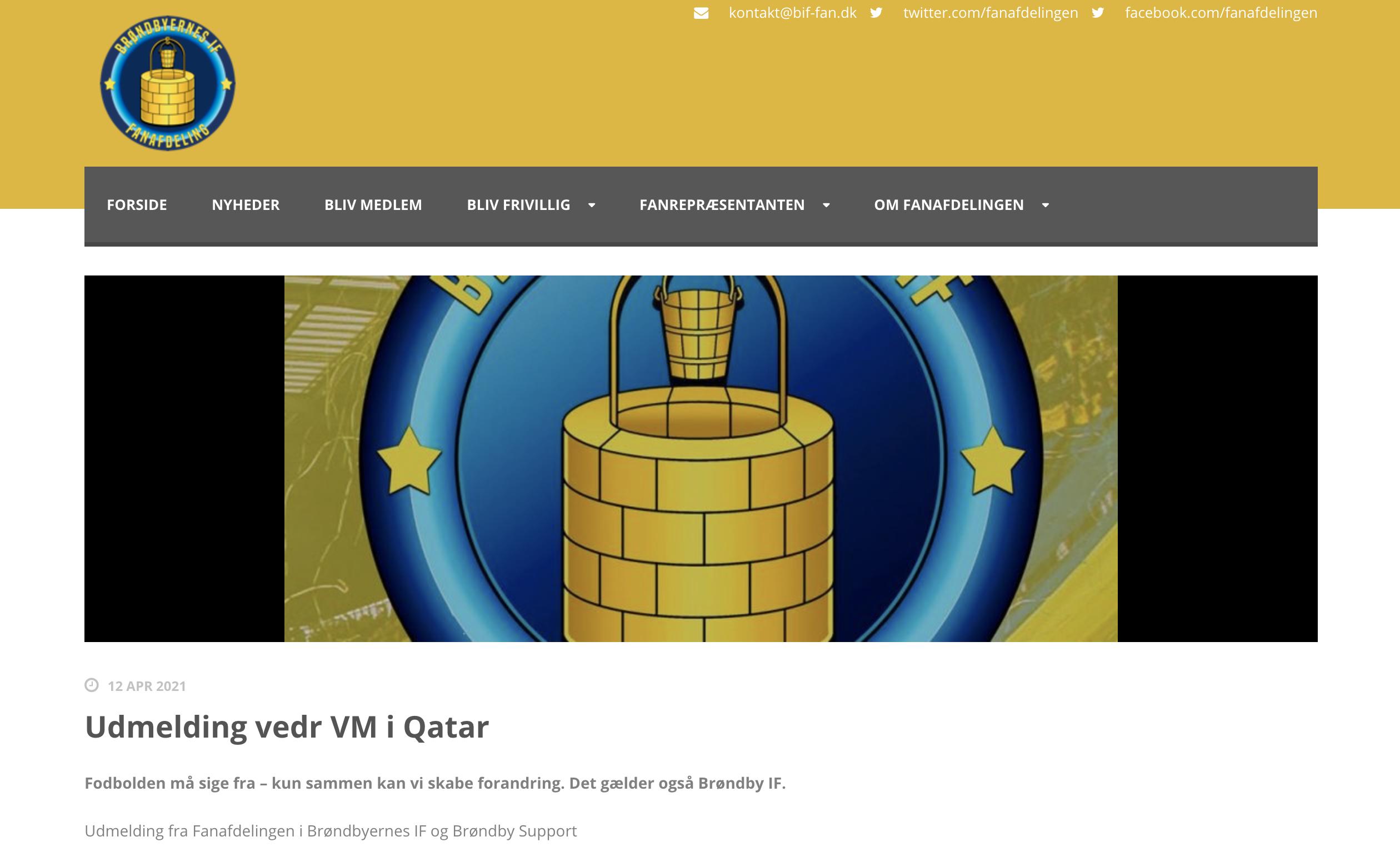 Brøndby Fans: Boikott Qatar