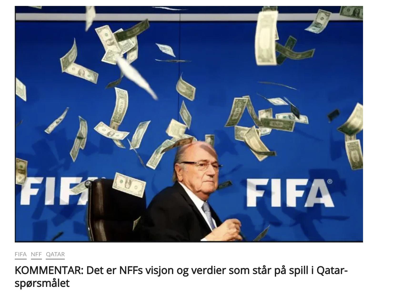 Det er NFFs visjon og verdier som står på spill i Qatar-spørsmålet