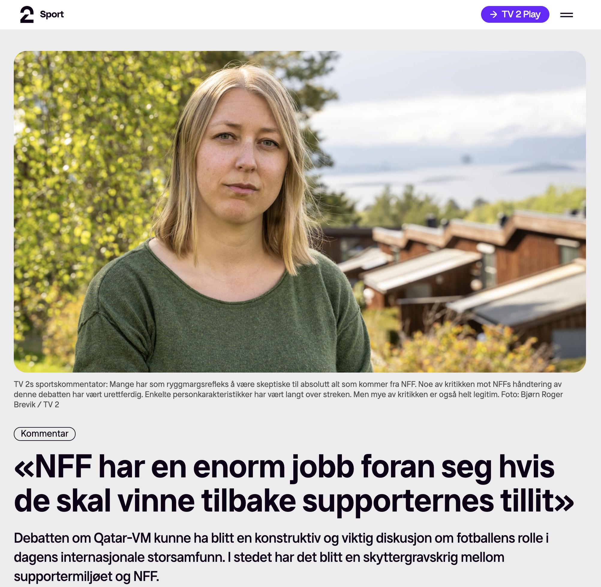«NFF har en enorm jobb foran seg hvis de skal vinne tilbake supporternes tillit»