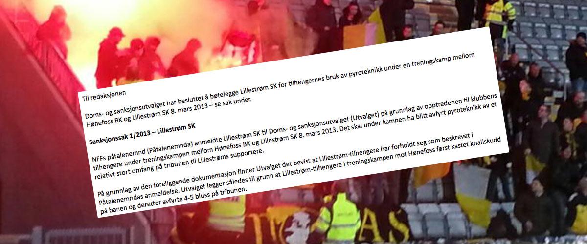 NFF bøtelegger Lillestrøm
